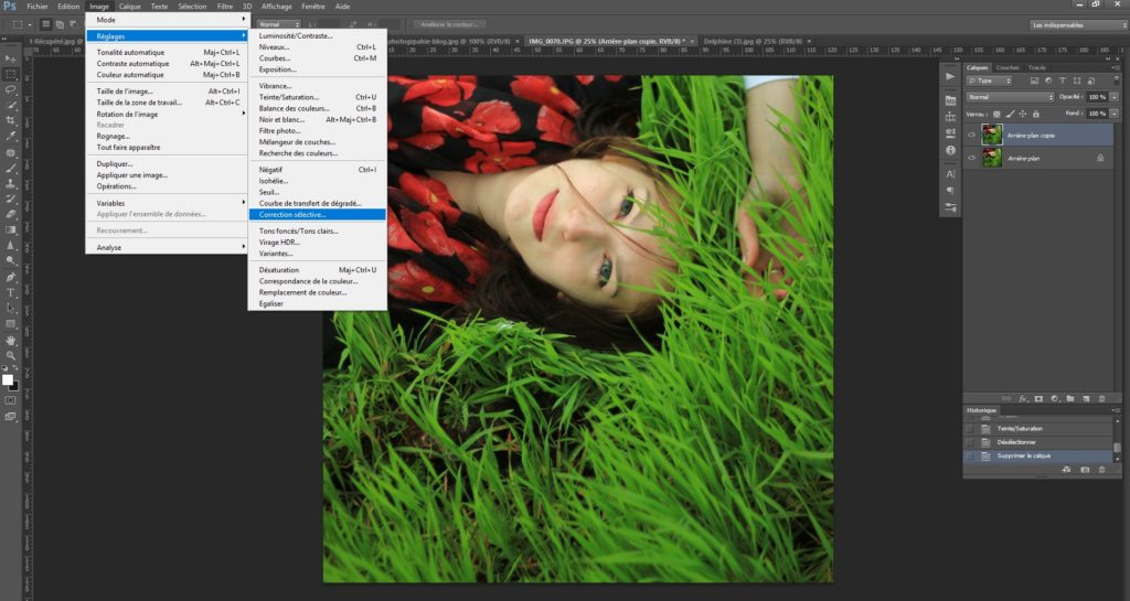 Retouche couleur photoshop